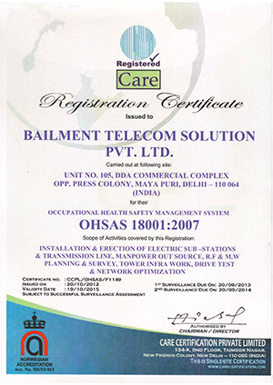 Bailment Telecom Solution Pvt. Ltd. - Site Acquisition Service